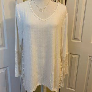 Style & Co. Petite Ivory Top Size PXL